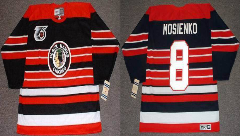 2019 Men Chicago Blackhawks 8 Mosienko red CCM NHL jerseys