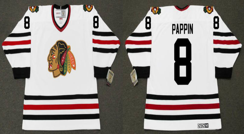 2019 Men Chicago Blackhawks 8 Pappin white CCM NHL jerseys