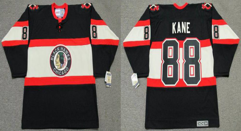 2019 Men Chicago Blackhawks 88 Kane black CCM NHL jerseys