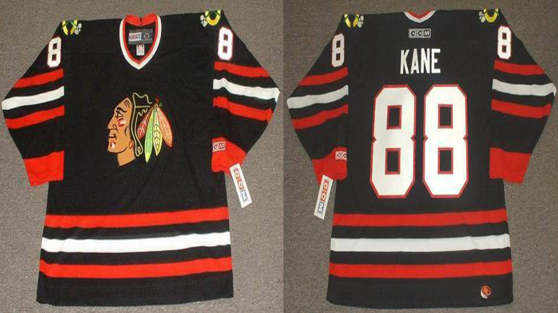 2019 Men Chicago Blackhawks 88 Kane black style 2 CCM NHL jerseys