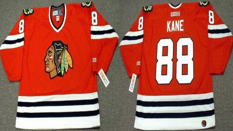 2019 Men Chicago Blackhawks 88 Kane red style 2 CCM NHL jerseys