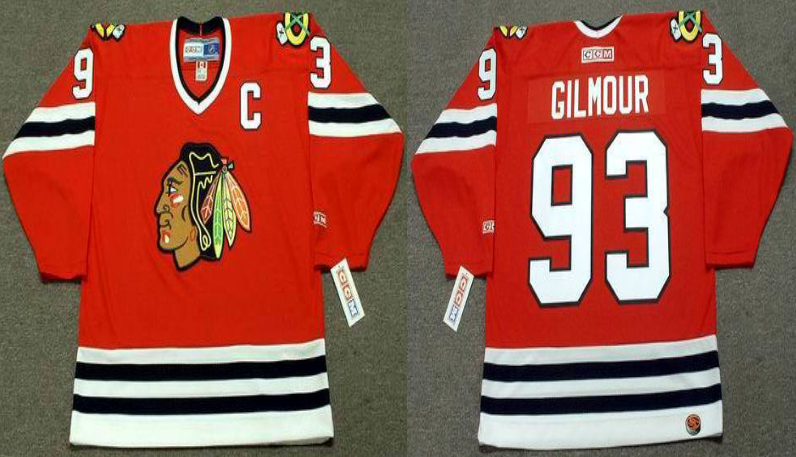 2019 Men Chicago Blackhawks 93 Gilmour red CCM NHL jerseys