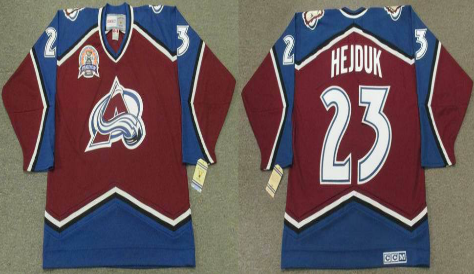 2019 Men Colorado Avalanche 23 Hejduk red CCM NHL jerseys