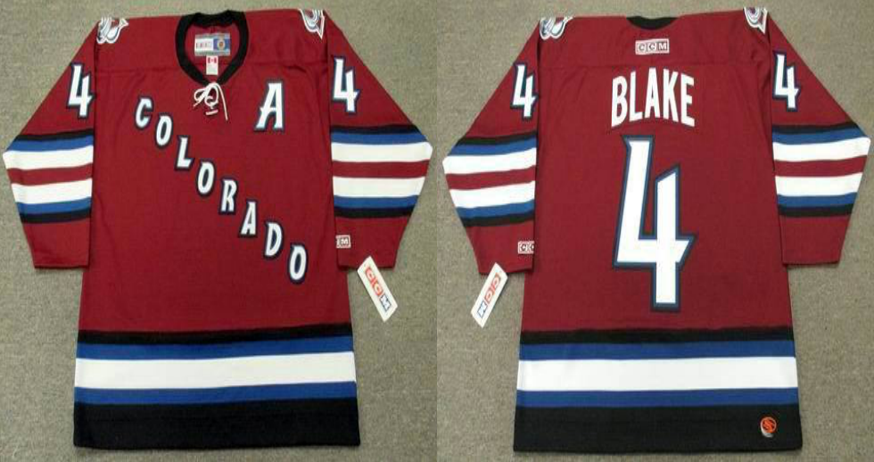 2019 Men Colorado Avalanche 4 Blake red style 2 CCM NHL jerseys