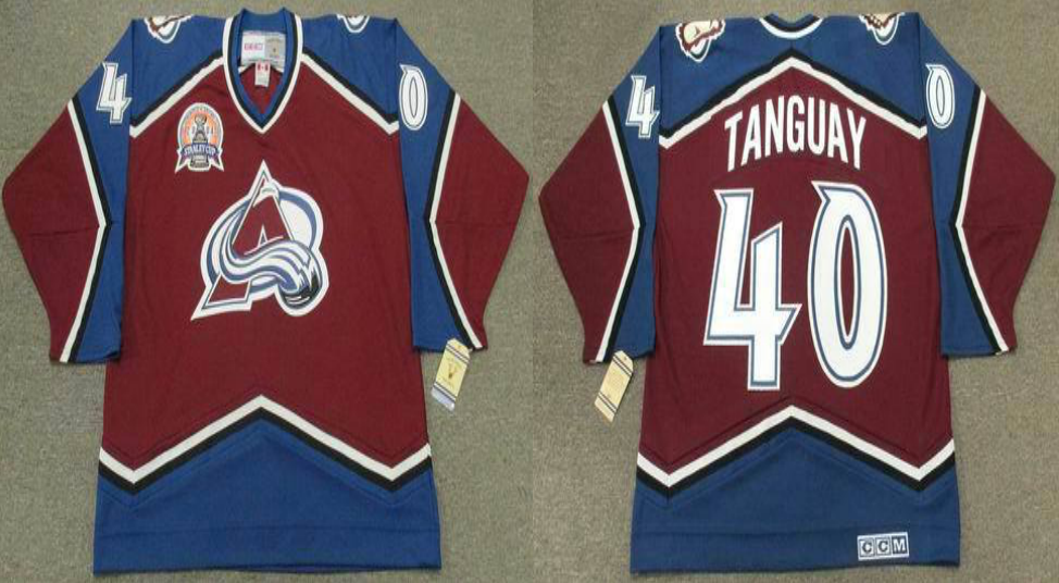 2019 Men Colorado Avalanche 40 Tanguay red CCM NHL jerseys