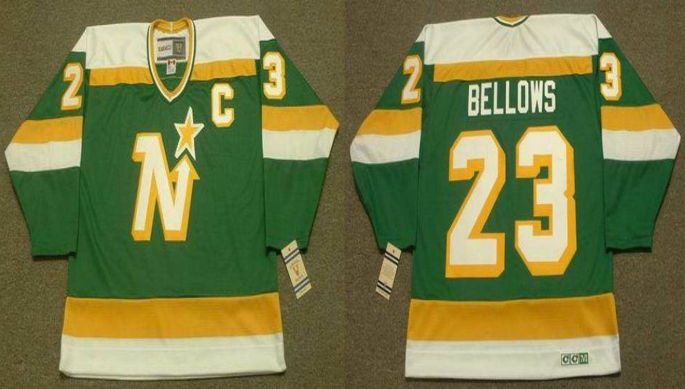 2019 Men Dallas Stars 23 Bellows Green CCM NHL jerseys1