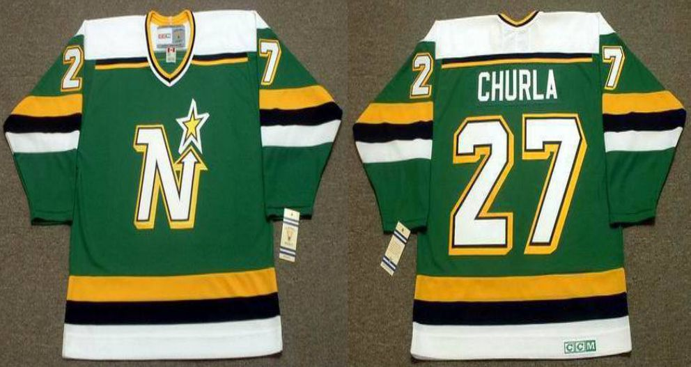 2019 Men Dallas Stars 27 Churla Green CCM NHL jerseys