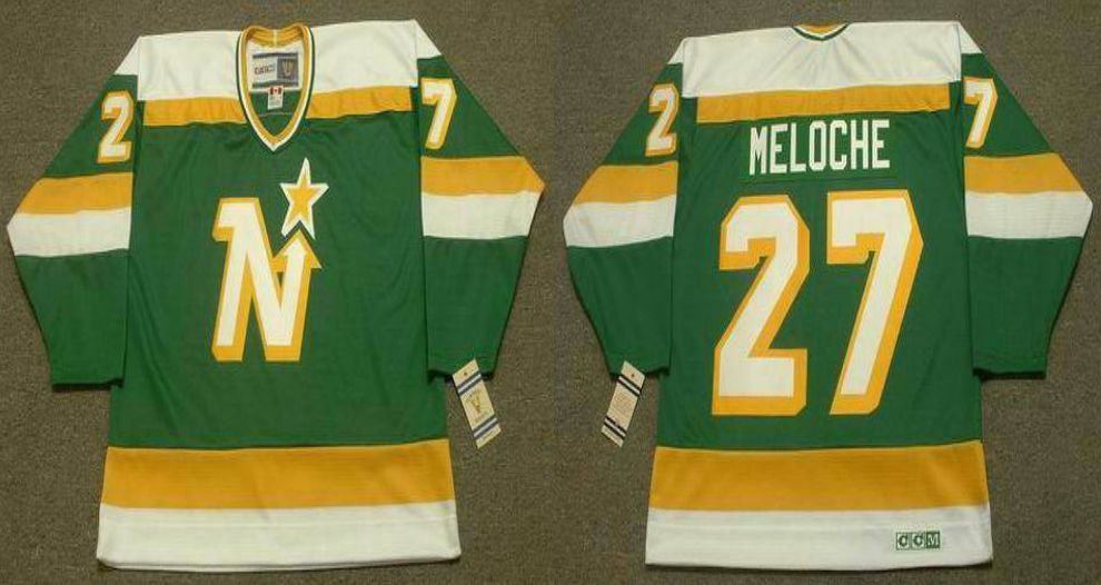 2019 Men Dallas Stars 27 Meloche Green CCM NHL jerseys