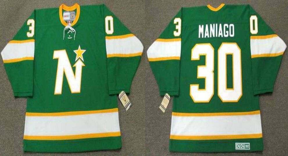 2019 Men Dallas Stars 30 Maniago Green CCM NHL jerseys