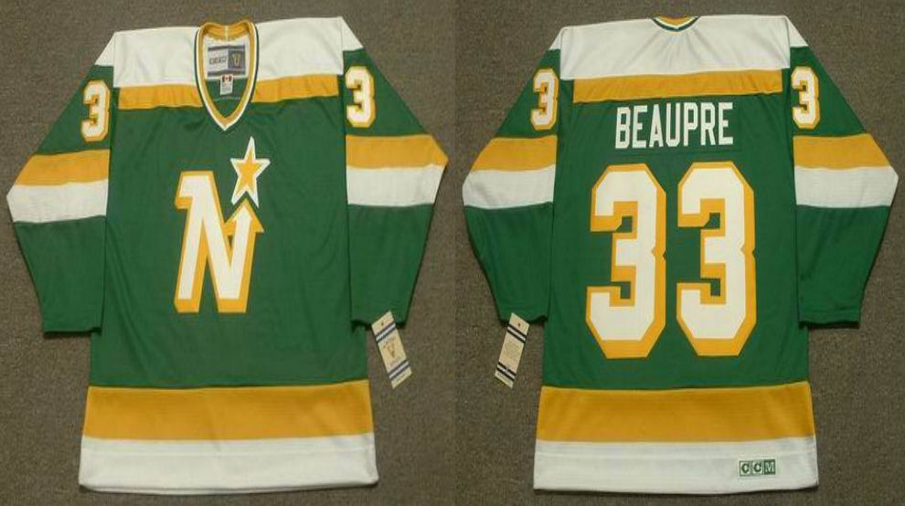 2019 Men Dallas Stars 33 Beaupre Green CCM NHL jerseys