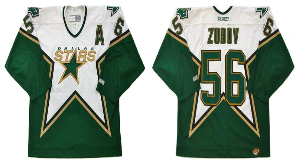 2019 Men Dallas Stars 56 Zubov Green CCM NHL jerseys