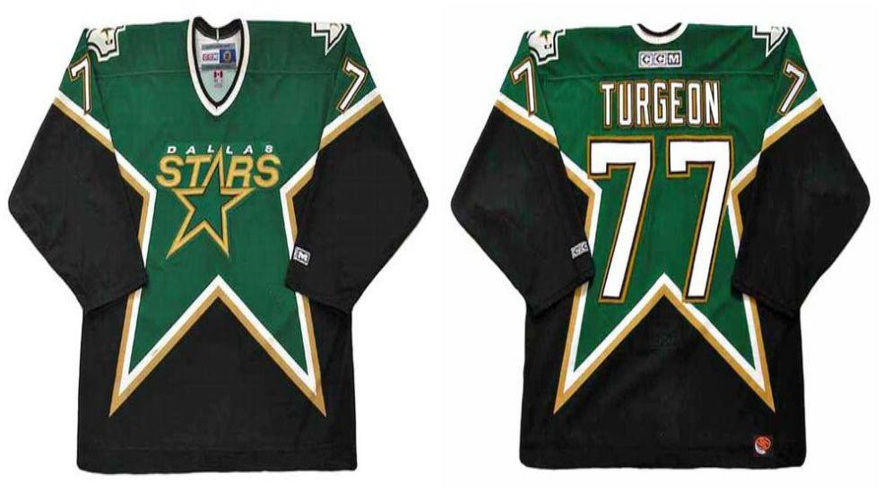 2019 Men Dallas Stars 77 Turgeon Black CCM NHL jerseys