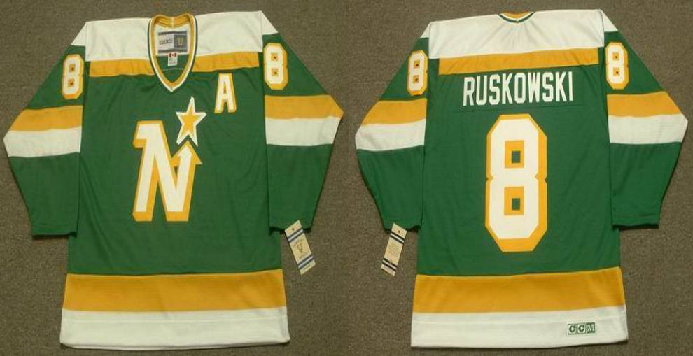 2019 Men Dallas Stars 8 Ruskowski Green CCM NHL jerseys