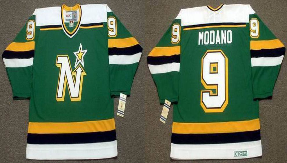 2019 Men Dallas Stars 9 Modano Green CCM NHL jerseys1