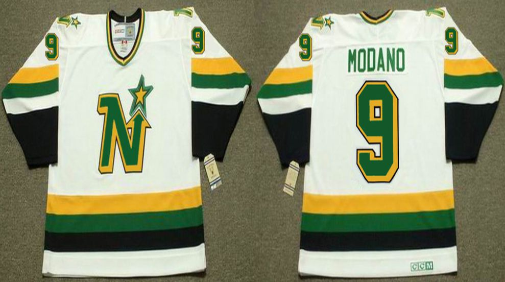 2019 Men Dallas Stars 9 Modano White CCM NHL jerseys1
