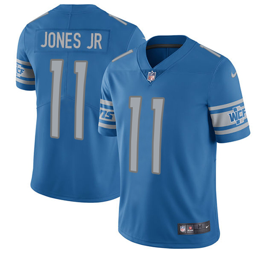 2019 Men Detroit Lions 11 Jones Jr blue Nike Vapor Untouchable Limited NFL Jersey style 2