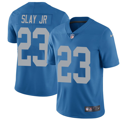 2019 Men Detroit Lions 23 Slay Jr blue Nike Vapor Untouchable Limited NFL Jersey