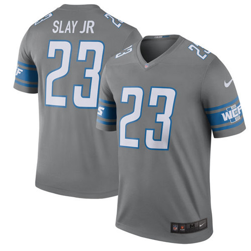 2019 Men Detroit Lions 23 Slay Jr grey Nike Vapor Untouchable Limited NFL Jersey