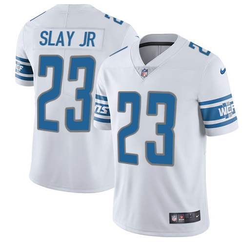 2019 Men Detroit Lions 23 Slay Jr white Nike Vapor Untouchable Limited NFL Jersey