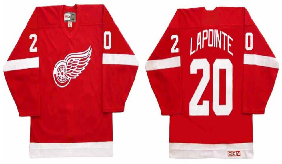 2019 Men Detroit Red Wings 20 Lapointe Red CCM NHL jerseys