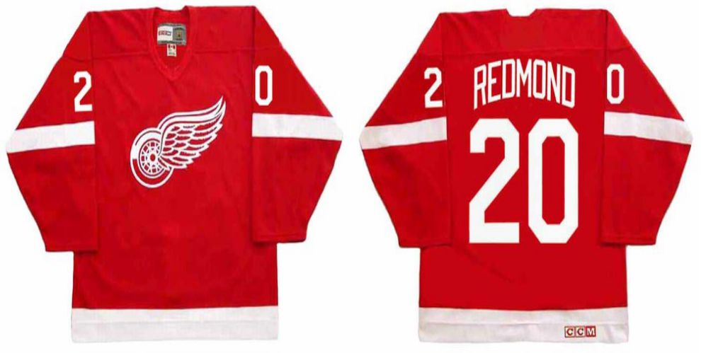2019 Men Detroit Red Wings 20 Redmond Red CCM NHL jerseys1