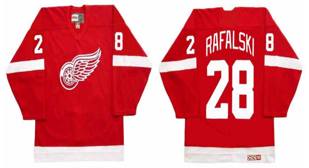 2019 Men Detroit Red Wings 28 Rafalski Red CCM NHL jerseys