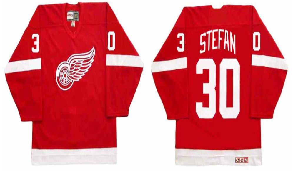 2019 Men Detroit Red Wings 30 Stefan Red CCM NHL jerseys
