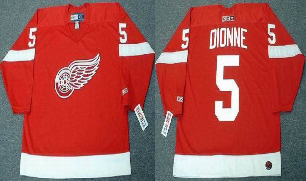 2019 Men Detroit Red Wings 5 Dionne Red CCM NHL jerseys