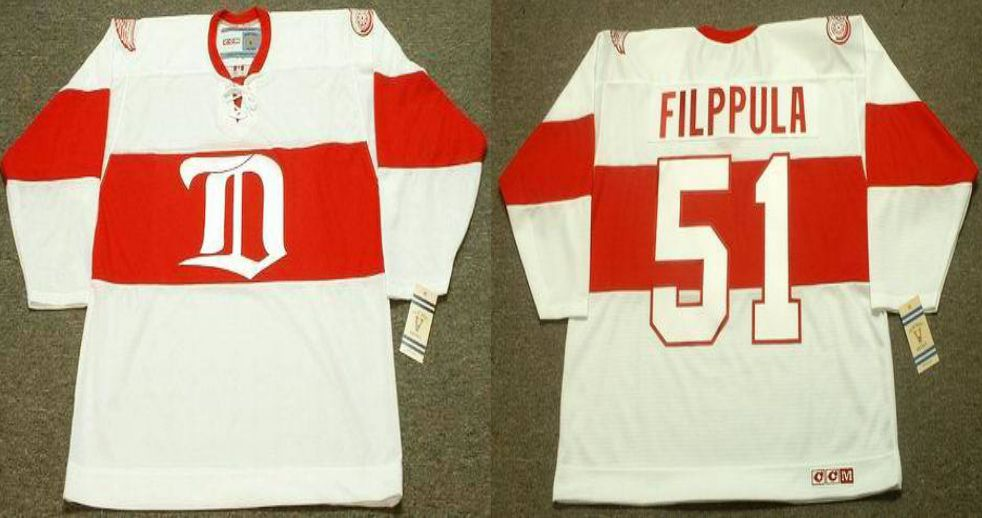 2019 Men Detroit Red Wings 51 Filppula White CCM NHL jerseys
