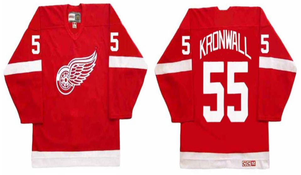 2019 Men Detroit Red Wings 55 Kronwall Red CCM NHL jerseys