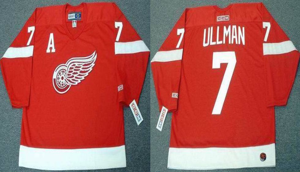 2019 Men Detroit Red Wings 7 Ullman Red CCM NHL jerseys