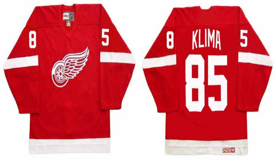 2019 Men Detroit Red Wings 85 Klima Red CCM NHL jerseys
