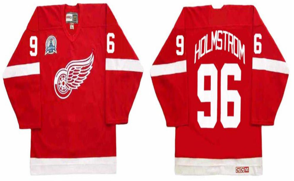 2019 Men Detroit Red Wings 96 Holmstrom Red CCM NHL jerseys