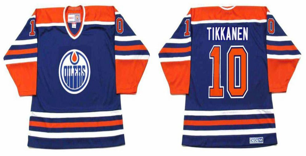 2019 Men Edmonton Oilers 10 Tikkanen Blue CCM NHL jerseys