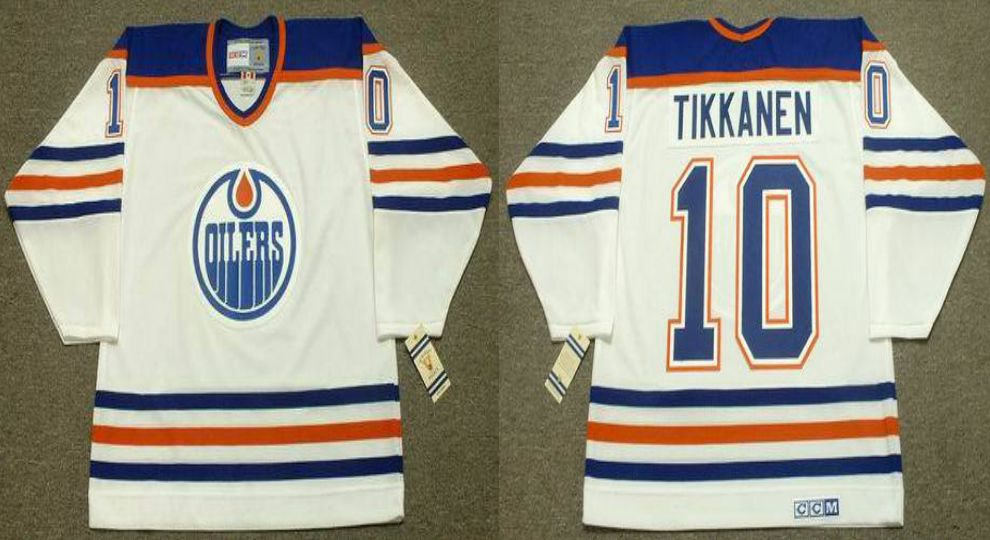 2019 Men Edmonton Oilers 10 Tikkanen White CCM NHL jerseys