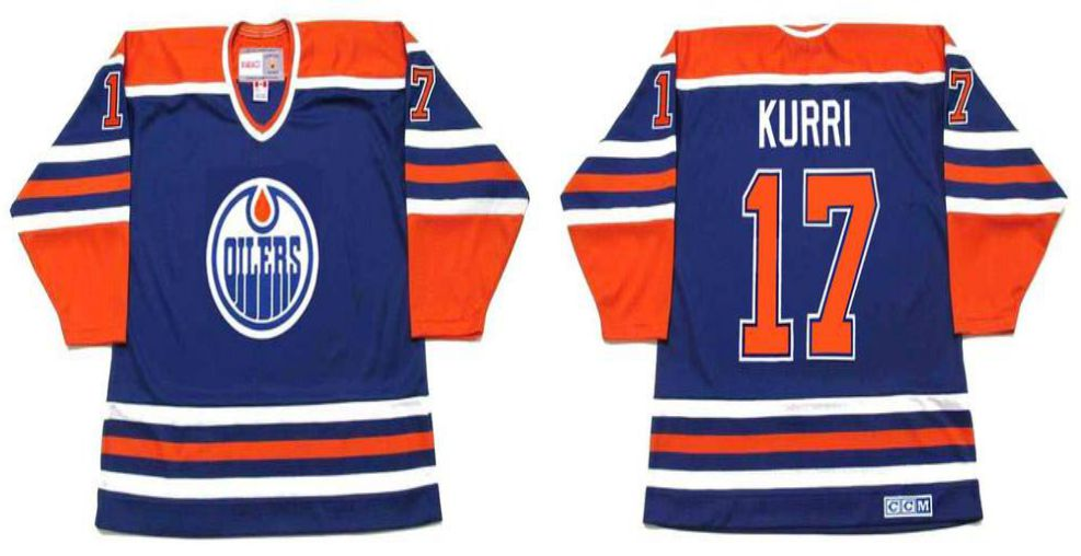 2019 Men Edmonton Oilers 17 Kurri Blue CCM NHL jerseys