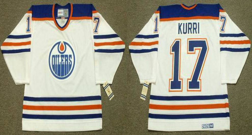 2019 Men Edmonton Oilers 17 Kurri White CCM NHL jerseys