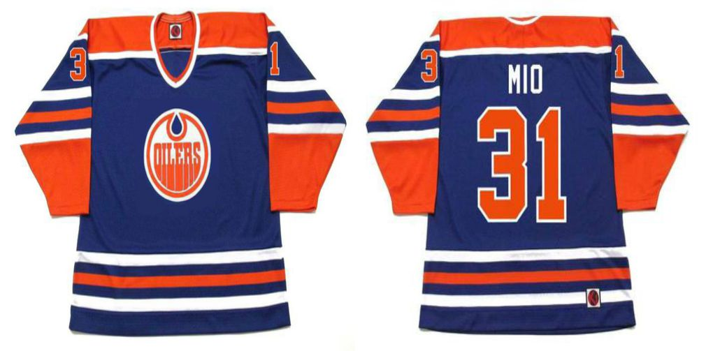 2019 Men Edmonton Oilers 31 Mio Blue CCM NHL jerseys