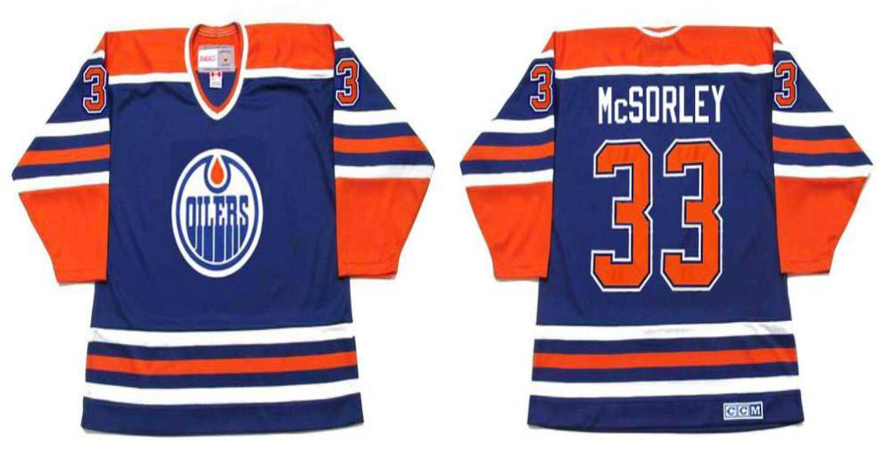 2019 Men Edmonton Oilers 33 McSorley Blue CCM NHL jerseys