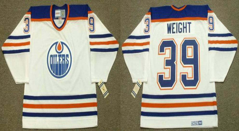 2019 Men Edmonton Oilers 39 Weight White CCM NHL jerseys