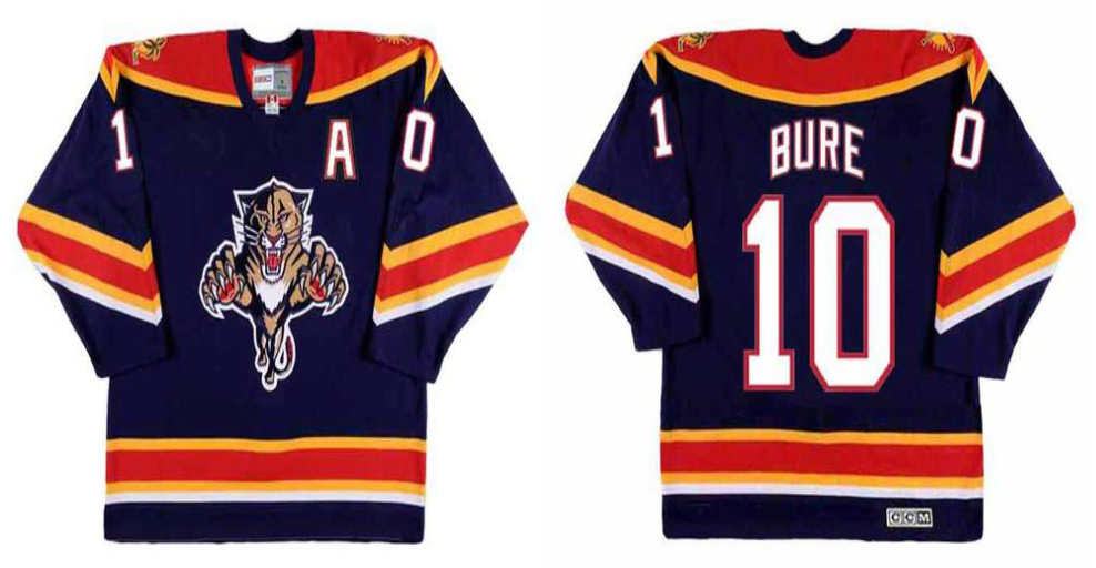 2019 Men Florida Panthers 10 Bure blue CCM NHL jerseys