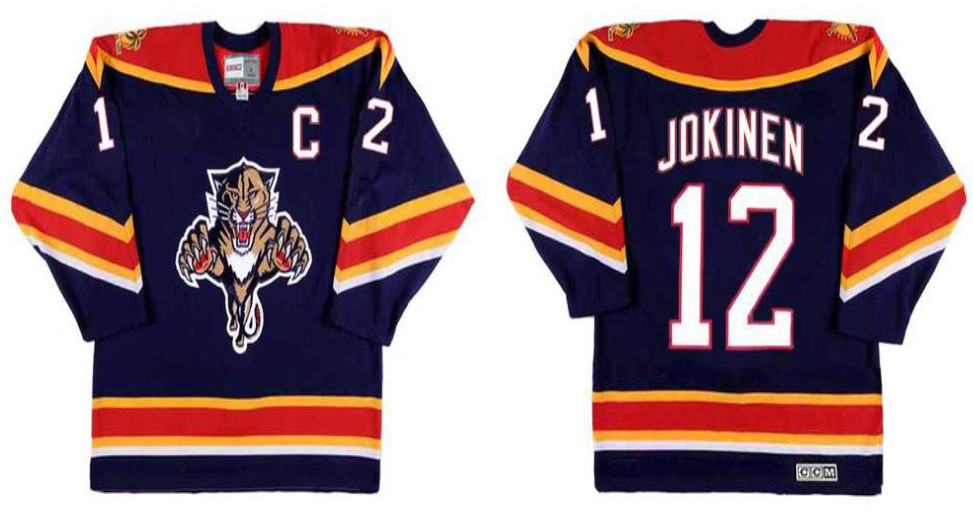 2019 Men Florida Panthers 12 Jokinen blue CCM NHL jerseys
