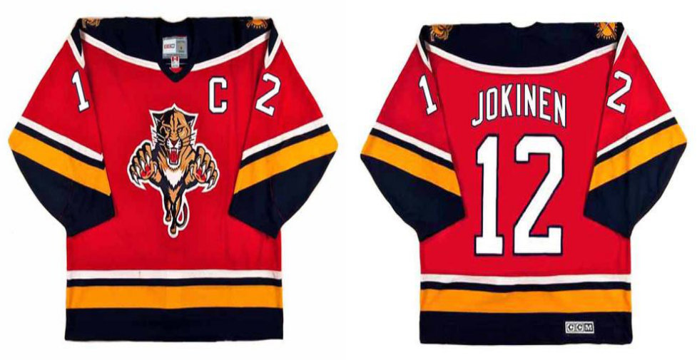 2019 Men Florida Panthers 12 Jokinen red CCM NHL jerseys