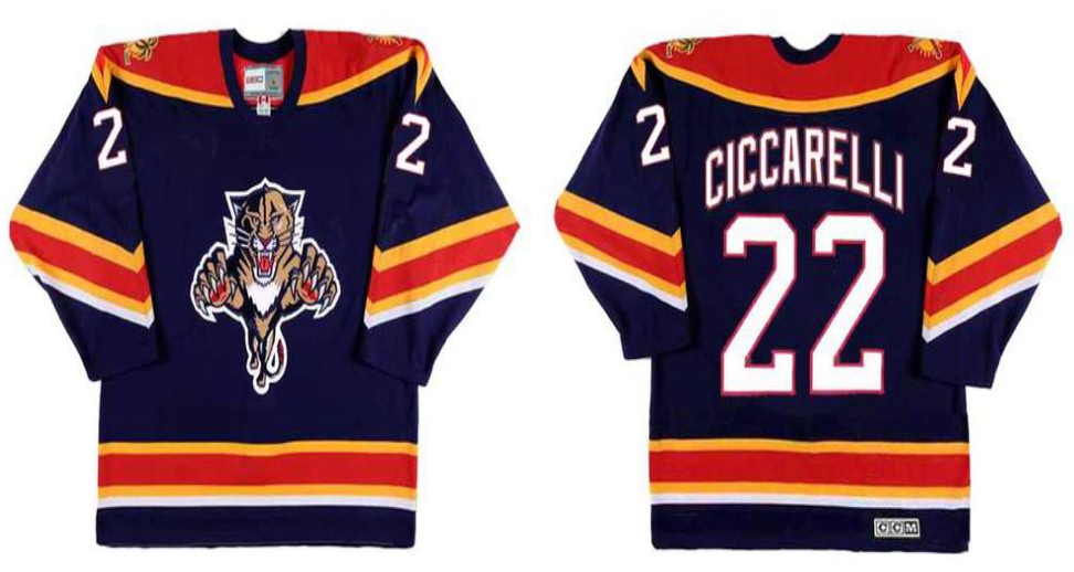 2019 Men Florida Panthers 22 Ciccarelli blue CCM NHL jerseys