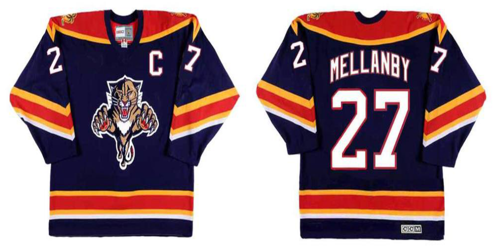 2019 Men Florida Panthers 27 Mellanby blue CCM NHL jerseys