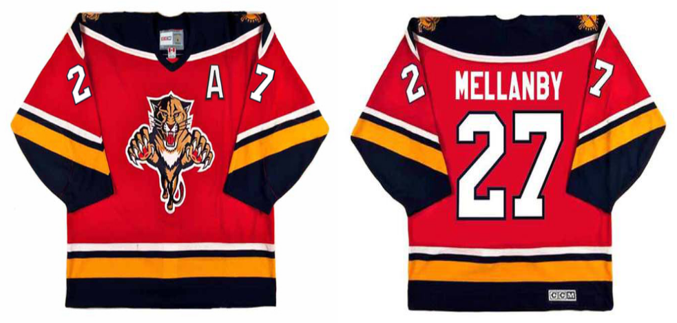 2019 Men Florida Panthers 27 Mellanby red CCM NHL jerseys