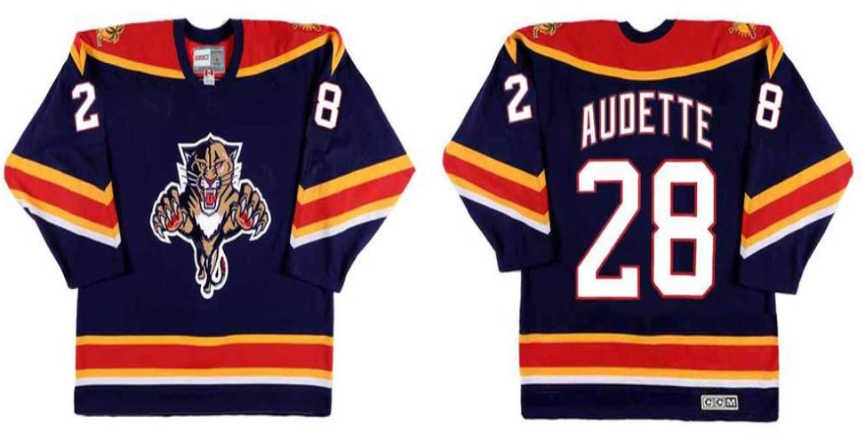 2019 Men Florida Panthers 28 Audette blue CCM NHL jerseys