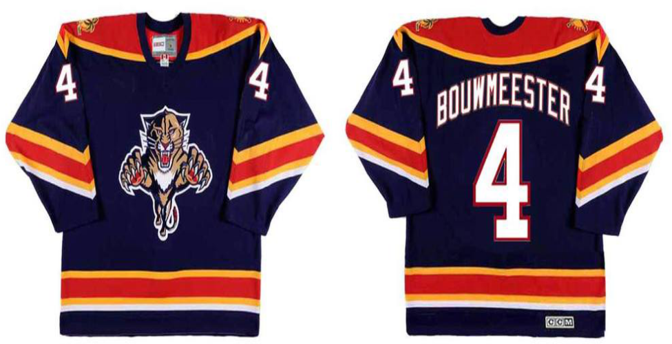 2019 Men Florida Panthers 4 Bouwmeester blue CCM NHL jerseys