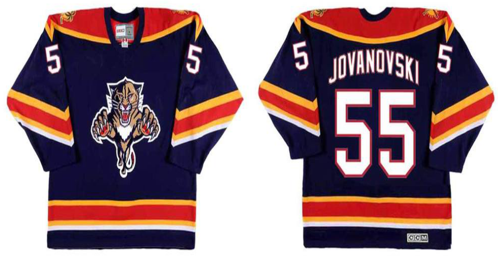 2019 Men Florida Panthers 55 Jovanovski blue CCM NHL jerseys