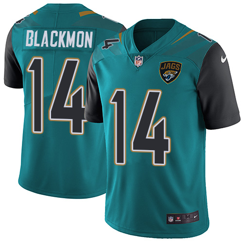 2019 Men Jacksonville Jaguars 14 Blackmon green Nike Vapor Untouchable Limited NFL Jersey